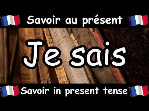 SAVOIR (To Know) Conjugation Song - Present Tense - French Conjugation - Le Verbe SAVOIR