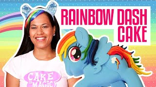 How To Make A RAINBOW DASH MY LITTLE PONY out of CAKE | Yolanda Gampp | How To Cake It