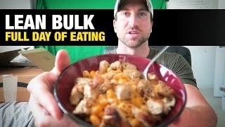 """Skinny guys, use this to gain weight fast:http://www.weightgainblueprint.com/view/yt15bThe best thing I could do is simply show you what a typical """"lean bulk"""" day in the life is so you can see the tricks and tactics I use with both my diet and workout plan to speed up results and stay in a calorie surplus.Here it is... My day in the life of lean bulking! Let me know what you think of this type of content and if you want to see more day in the life videos!As you know, sometimes it's really hard to stay on track and consume over 3,000 calories or whatever your calorie surplus is on a busy schedule.This video will show you a few tricks and tactics I use to consistently eat my lean bulking macro requirement of 3,300-3,700 total calories.Here is a quick summary of the main points:1. Get off to a fast start! It's going to be nearly impossible to hit your calorie requirement if you get off to a slow start and are only consuming a small amount of calories for breakfast.Get off to a fast start and pound down the calories first thing in the morning. Short on time? eat some peanut butter out of the jar and grab a protein bar on the way out of the house. There are so many options to stay on track.2. Nuts and protein shakes.When you are on the go you need to track down the best high calorie protein and calorie sources that are convenient for you to carry around anywhere.These are my 2 favorite combinations. I can carry a protein shake and bag of almonds anywhere I go, even when I travel.3. Healthy fats = more calories.Remember, getting in a lot of healthy fats is the easiest way to eat a lot of calories. Foods like olive oil, almond butter, peanut butter, avocado, and cashews are all high in calories.Make sure you watch the video so you can see how I do it.See the full blog post here: http://www.weightgainnetwork.com/weight-gain-diets/lean-bulk-day-in-the-life-full-day-of-eating.phpThe 7 Hardgainer Mistakes That Are Keeping You Skinny:★ TRACKING LINK GOES HEREComplete Weight Gai"""