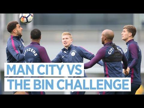 Video: MAN CITY VS THE BIN CHALLENGE