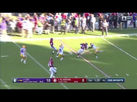 Jaylen Waddle INSANE 77 Yard Punt Return Touchdown vs LSU (2019)