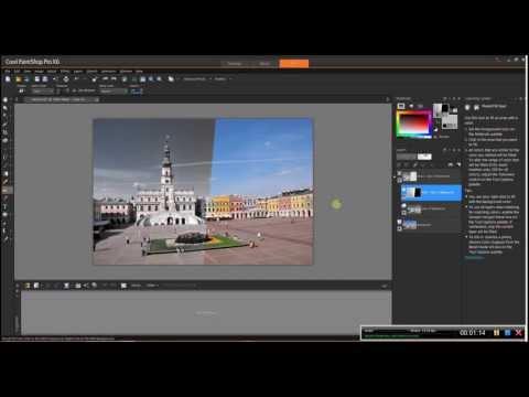 Corel Paint Shop Pro X 6 Przejscie zdjecia z czarno bialego do kolorowego