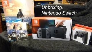 Unboxing of Breath of the Wild and Nintendo Switch