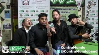 con ContraMundo Banda Bogotá que nos Visito en URepublicanaRadio Talento Nacional