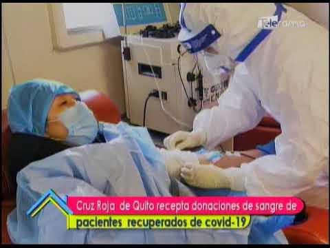 Cruz Roja de Quito recepta donaciones de sangre de pacientes recuperados del covid-19