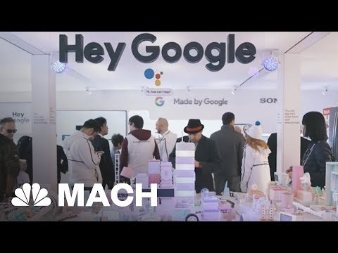 Google And Amazon's Smart Assistant Battle And Other Highlights From CES 2018 | Mach | NBC News (видео)
