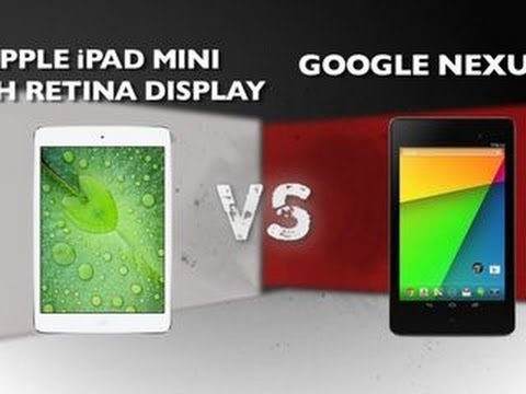 Retina - http://cnet.co/18CRIjO It's an epic battle between the two titans of 7-inch tablets. It's Apple's iPad Mini with Retina display versus Google's New Nexus 7. ...