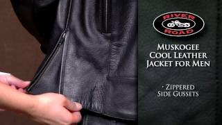 River Road Muskogee Cool Leather Jacket for Men