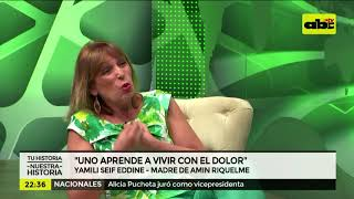 """Mamá de Amin Riquelme: """"Una aprende a vivir con el dolor"""""""
