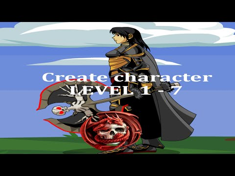 DragonFable / Create character / Falconreach / Level 1-7