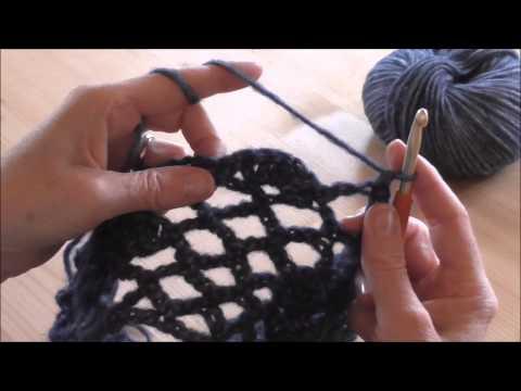 Pullover häkeln im Blütenmuster Anleitung