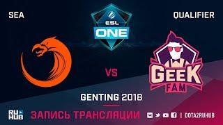 TNC vs Geek Fam, ESL One Genting SEA Qualifier, game 2 [Lex, 4ce]