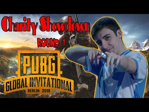 Shroud / DrDisrespect | PUBG Global Invitational (PGI) 2018 - Day 3 Charity Showdown ROUND 1