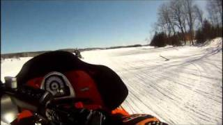 1. Arctic Cat F7 Tony Stewart Edition On A Lake