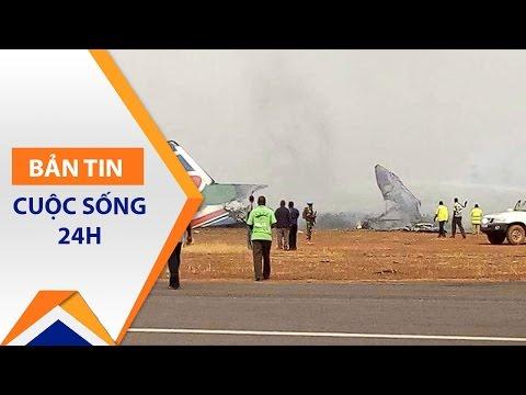 Máy bay chở khách nổ tung khi hạ cánh | VTC - Thời lượng: 54 giây.