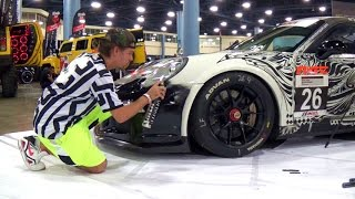 Video 2013 PORSCHE 911 GT3 ONE OF A KIND HAND PAINTED ART RACE CAR. DUB SHOW MIAMI 2014 MP3, 3GP, MP4, WEBM, AVI, FLV Juni 2018