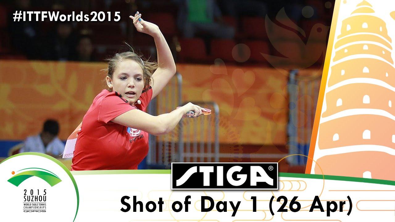 2015 World Championships Shot of Day 1 Presented by Stiga