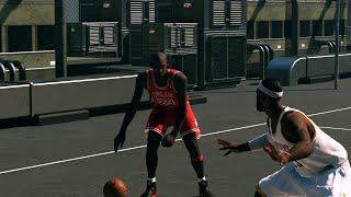 NBA 2K15 - Lebron James vs Michael Jordan 1 on 1 Blacktop   Epic Finish