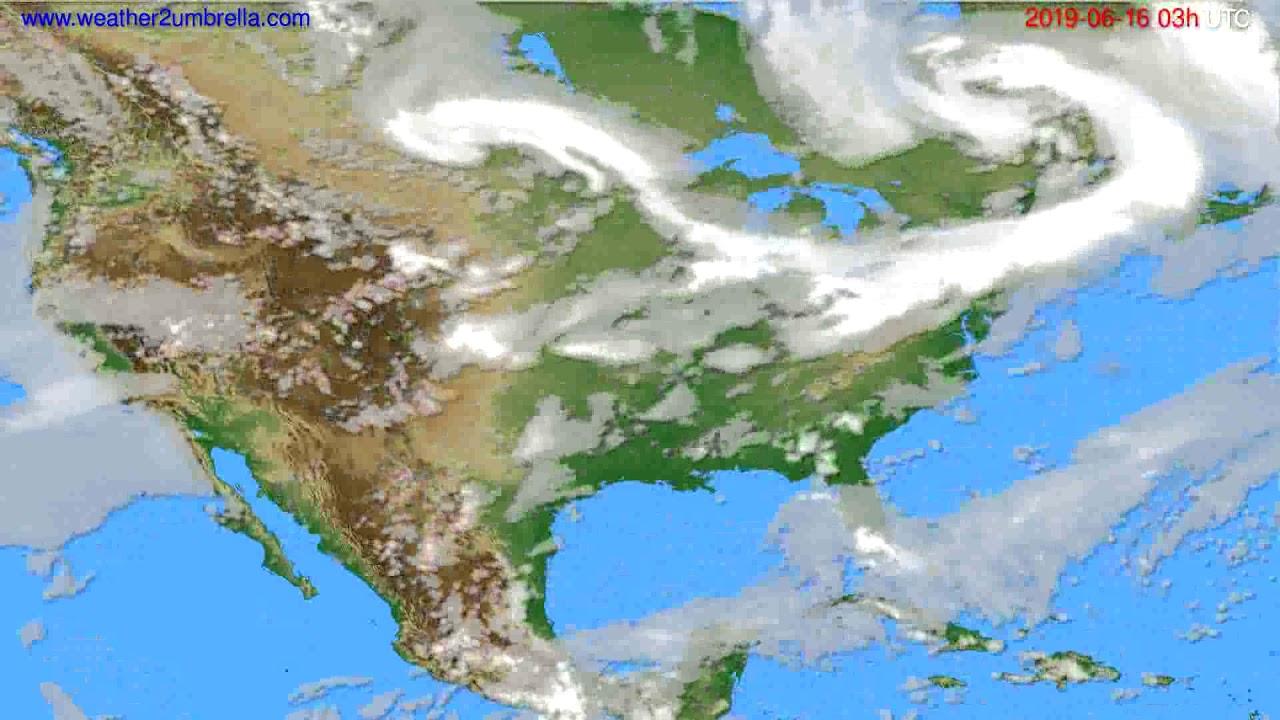 Cloud forecast USA & Canada // modelrun: 00h UTC 2019-06-13