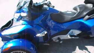 7. 2013 Can-Am Spyder RT-S SM5 Quantm Blue Lake Norman Powersports