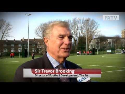 Rachel Yankey, Sir Trevor Brooking and Garth Crooks work with the Football Foundation