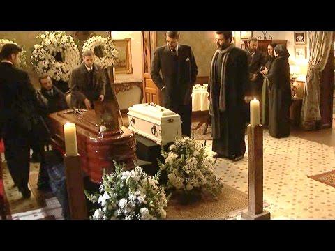 il segreto - i funerali di candela e del figlio con colpo di scena