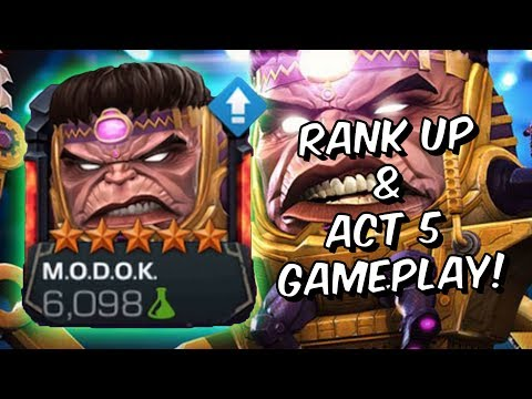 5 Star MODOK Rank Up & Act 5 Gameplay! - Marvel Contest Of Champions
