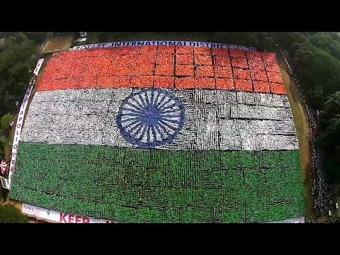 Largest Indian Human Flag - Chennai Sets A New Guinness World Record