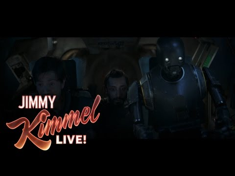 Jimmy Kimmel Talks With the Cast and Director of Rogue One A Star Wars