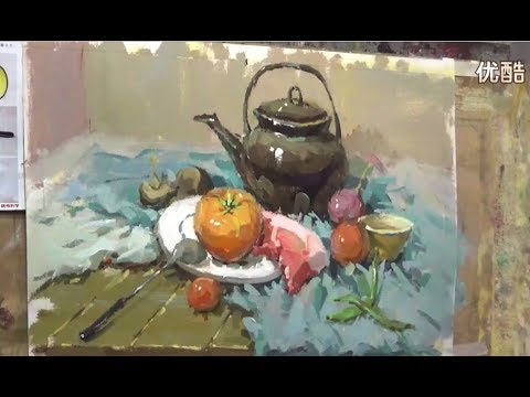 Still Life Painting in Gouache Paint 04