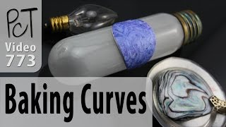 """Do you love the look of gently curved polymer clay bracelets, necklaces, earrings and hollow beads... but you're not sure how it is done? It's easy when you have a curved form to bake on... and there are sooo... many options!!For more info and related resources about baking curves into your polymer clay pieces, please visit our PcT blog (Video #773)... http://www.beadsandbeading.com/blog/?p=146Polymer Clay Tutor, Cindy Lietz & Doug Lietz""""Love What You make... Make what You make."""