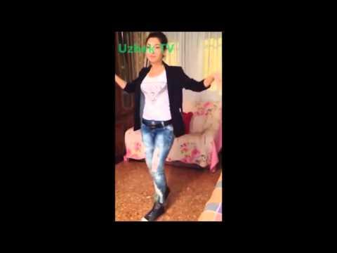 Красивая Узбечка танцует Янгиси Апрел 2015   Арабский танец   O'zbek qizining talanti bor ekan (видео)