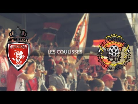 Royal Excel Mouscron - Lokeren : les Coulisses (видео)