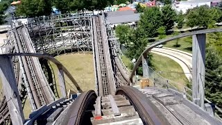 Zach's ZoomerMichigan's Adventure (Muskegon, Michigan, USA)Operating since 7/22/1994Roller CoasterWoodSit DownFamilyMake: Custom Coasters International, Inc.StatisticsLength: 1,400 ftHeight: 41 ftInversions: 0Trains: Single train with 5 cars. Riders are arranged 2 across in 2 rows for a total of 20 riders.Built by: Philadelphia Toboggan Coasters, Inc.Etymology: Named after the grandson of Michigan Adventure's former park owner Roger Jourden.