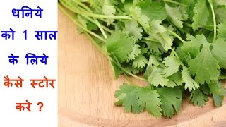 Video How To Store Dhaniya Leaves For 1 Year | धनिया 1 साल के लिए कैसे स्टोर करे download in MP3, 3GP, MP4, WEBM, AVI, FLV January 2017