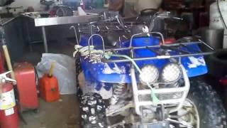 8. Cold starting yamaha wolverine 1999 4x4 and Honda 500 2005
