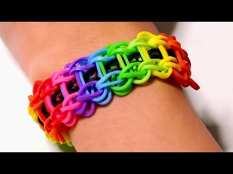 Rainbow loom Nederlands – Ladder armband || Loom bands, rainbow loom, nederlands, tutorial, how to