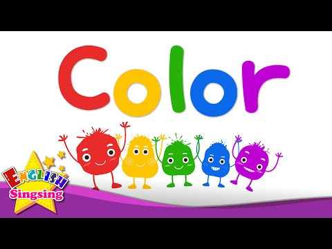 Kids vocabulary - Color - color mixing - rainbow colors - English educational video