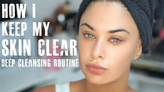 Download Lagu How I keep my skin clear - deep cleansing routine Mp3
