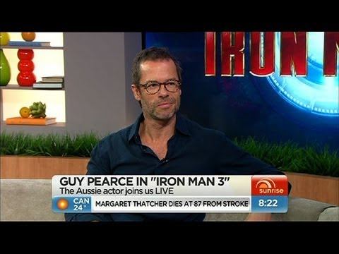Pearce - Aussie Hollywood star Guy Pearce chats to Sunrise about his role in the upcoming blockbuster film 'Iron Man 3'.