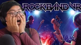 ROCK BAND VR?! 10 Minutes of My Reaction to Live Gameplay!