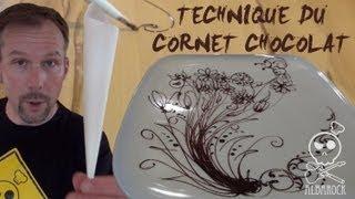Technique du cornet au chocolat - How to do cornet paper - pâtisserie - Albarock