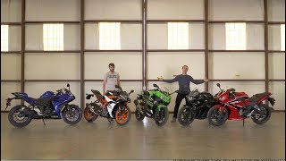 9. Honda CBR300R vs Kawasaki Ninja 400 vs KTM RC390 vs Suzuki GSX250R vs Yamaha YZF-R3 - On Two Wheels