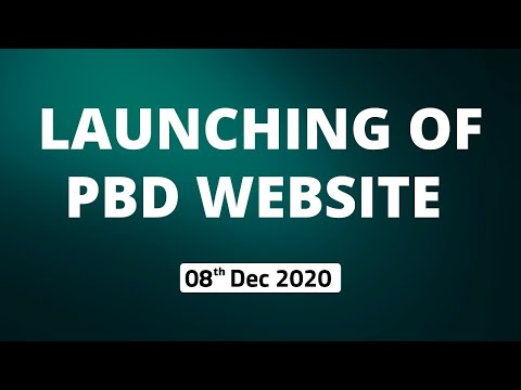 Launch of Website for PBD 2021