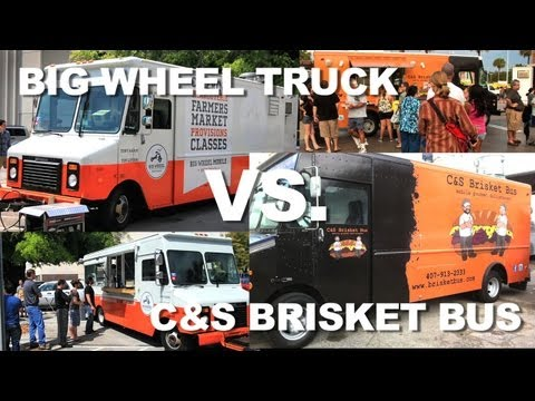 Big Wheel vs Bus - Orlando Bacon Off 2012: Big Wheel Truck vs. The Brisket Bus who won?