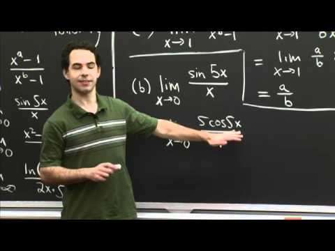 l'Hopital Practice | MIT 18.01SC Single Variable Calculus, Fall 2010