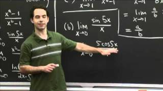 L'Hospital Practice | MIT 18.01SC Single Variable Calculus, Fall 2010