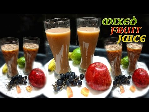 How to Prepare Mixed Fruit Juice