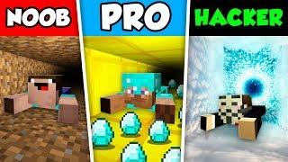 Minecraft NOOB vs PRO vs HACKER : TUNNEL CHALLENGE in Minecraft Animation!