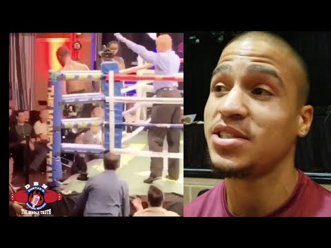 (YOU WON'T BELIEVE THIS) FIGHTER GETS KNOCKED DOWN AND LEAVES THE RING (SABEL HASAN)